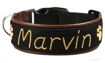 "Besticktes Halsband - Modell ""Marvin"" (Sonderedition)"
